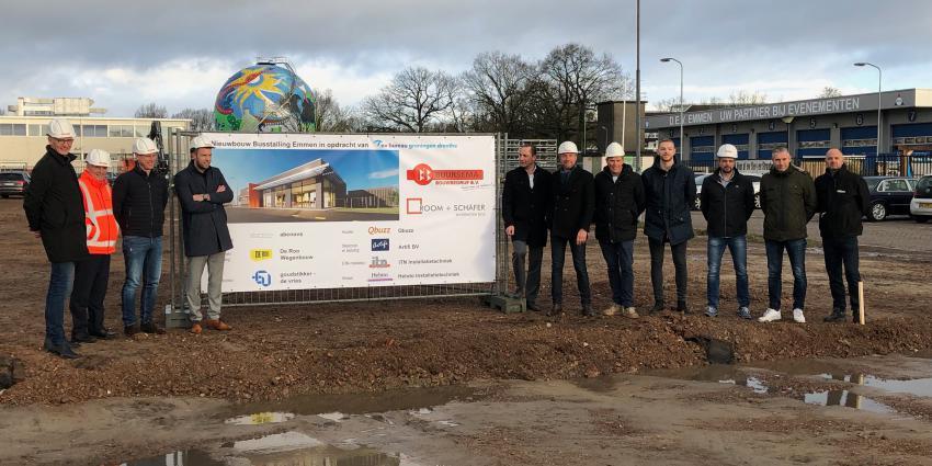 Start van de bouw nieuwe busstalling in Emmen