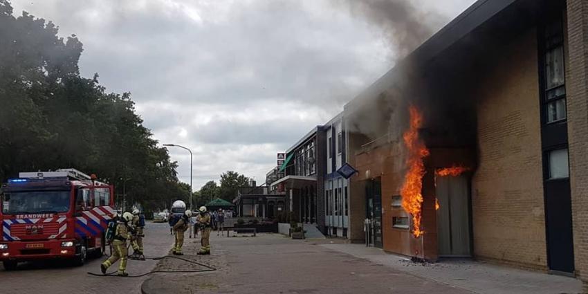 Brand politiebureau Klazienaveen