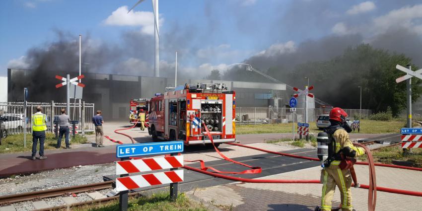 Foto van brand in Amsterdam