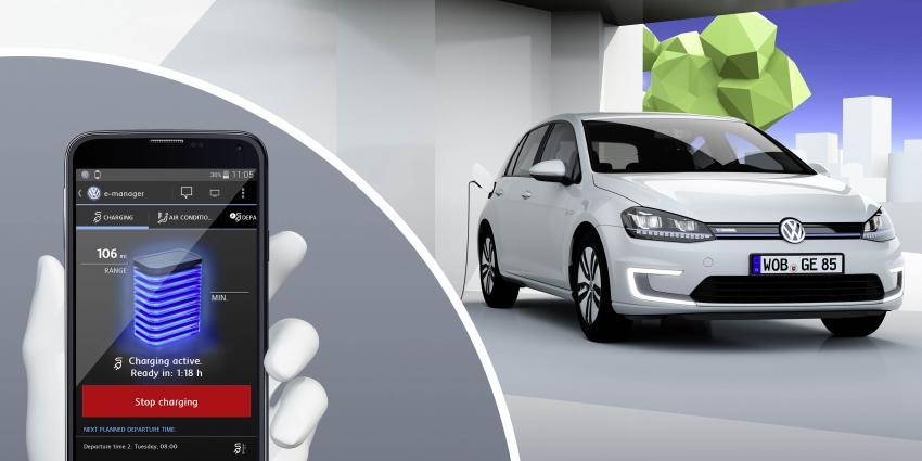 Toekijken hoe je Volkswagen zichzelf parkeert