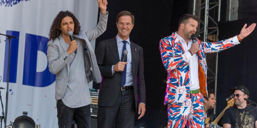 Mark Rutte en Ali B openen bevrijdingsfestival in Groningen