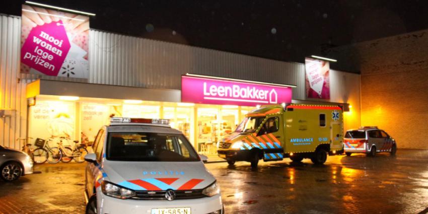 Overval op Leen Bakker in Vlaardingen
