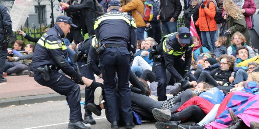 klimaatactivisten, bezetten, stadhouderskade, extinction rebellion