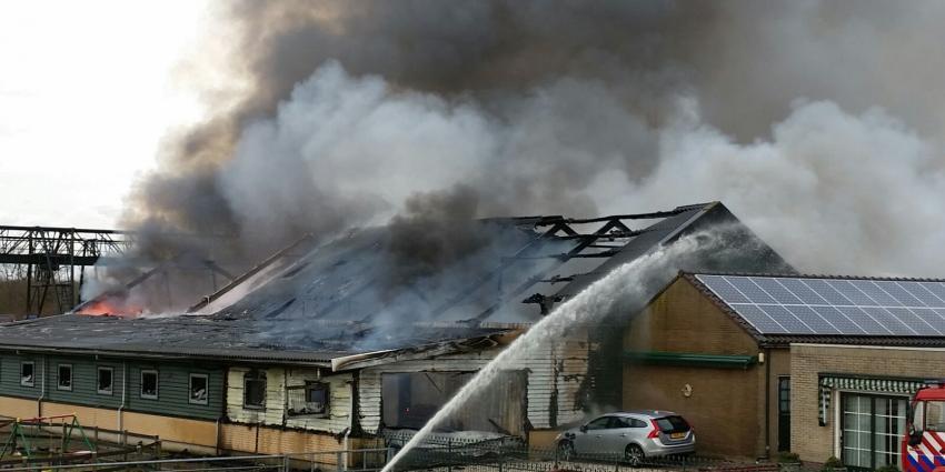 Grote brand bij manege in Wilnis
