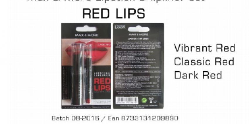 Te veel lood in Lipstick verkocht bij Action