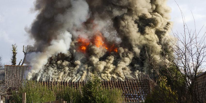 Schuurbrand in Veendam