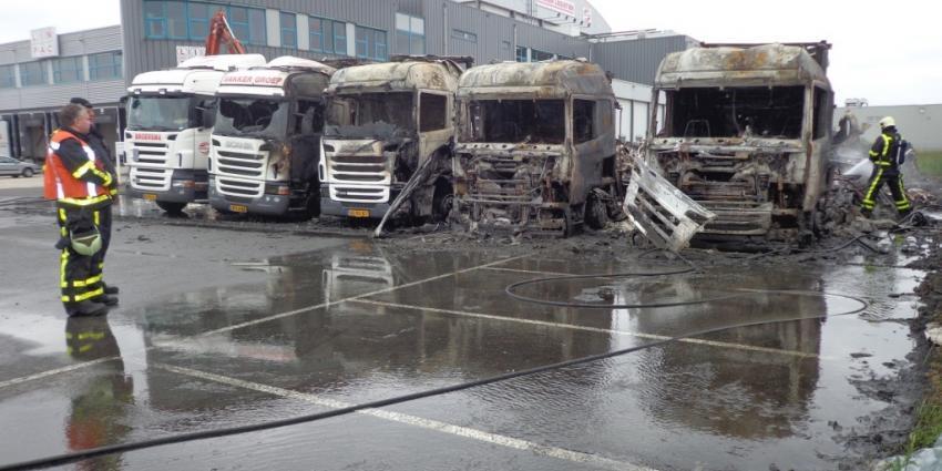 Foto van vrachtwagens in brand | Nico Vink