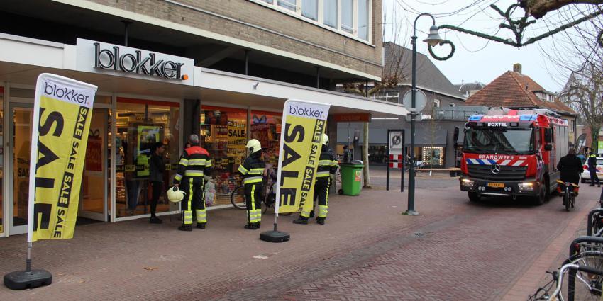 Gaslucht bij Blokker in Boxtel