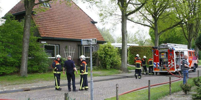 Woningbrand in Gieten