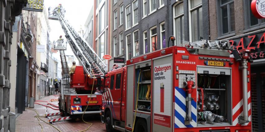 Grote brand in Kalverstraat Amsterdam