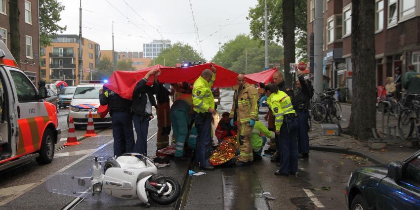 Foto van ongeval met snorfietser   BON