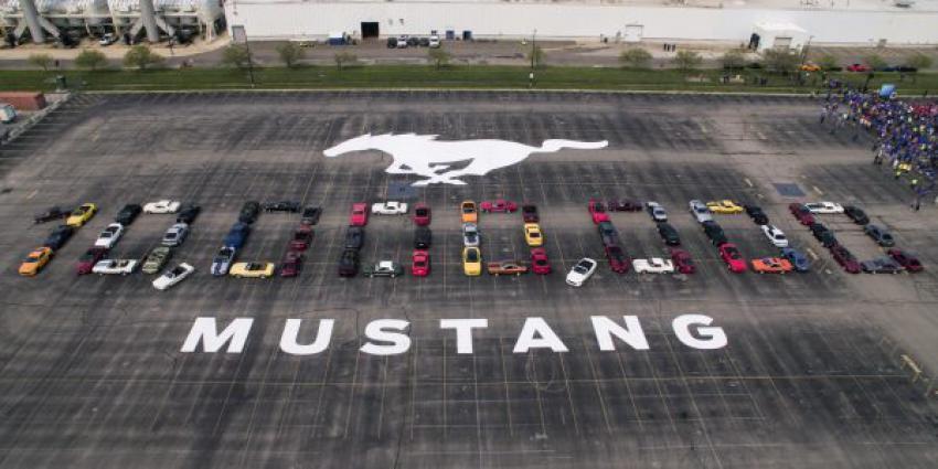 Ford viert productie van 10 miljoenste Mustang