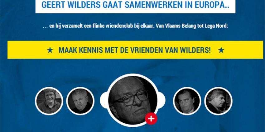Screenshot website de vrienden van wilders | PvdA