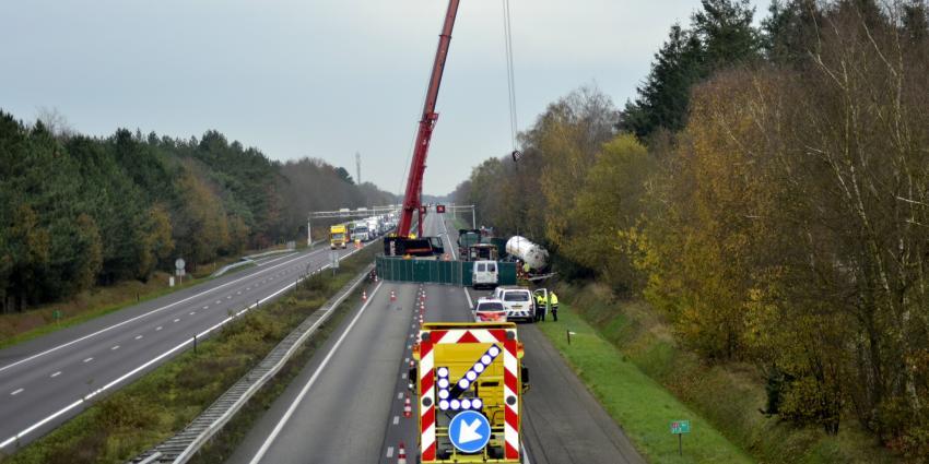 Ongevallen zorgen voor problemen op A67
