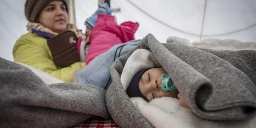 Vluchtelingenkinderen in gevaar door kou