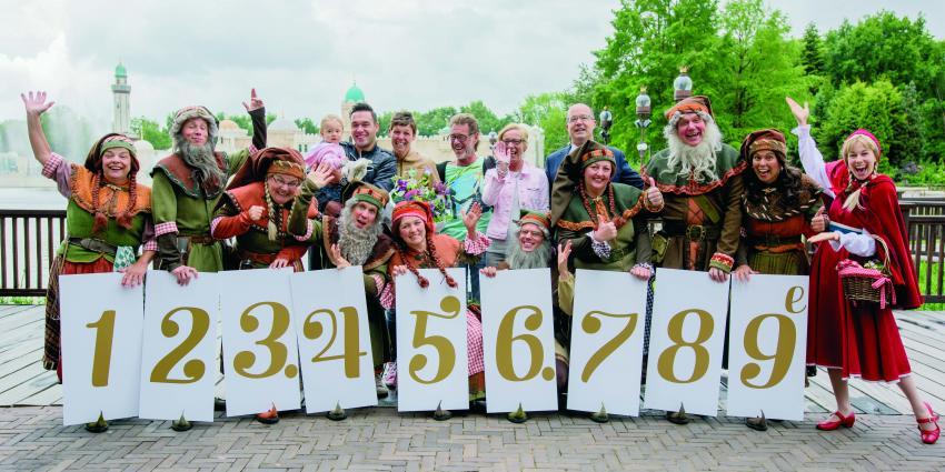 Efteling ontvangt 123.456.789e bezoeker