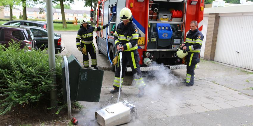 Opnieuw brandende afvalbakken nabij Hoogheemflats in Boxtel