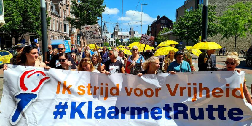 Demonstratie tegen coronabeleid