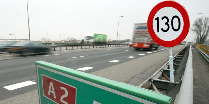 Minister mocht maximumsnelheid A2 in avond en nacht verhogen naar 130 km/h