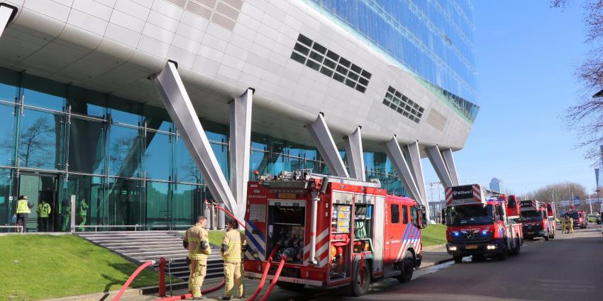 Brand voormalig ING kantoor Amsterdam