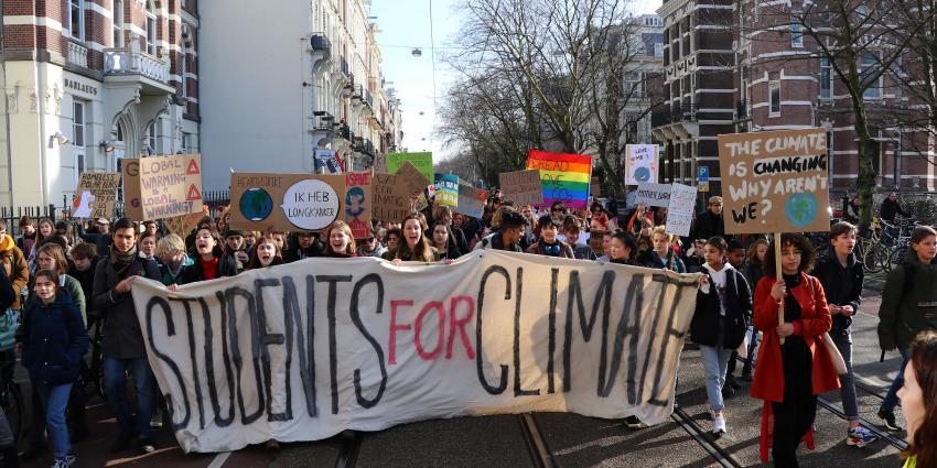 Demonstratie in Amsterdam voor een beter klimaat