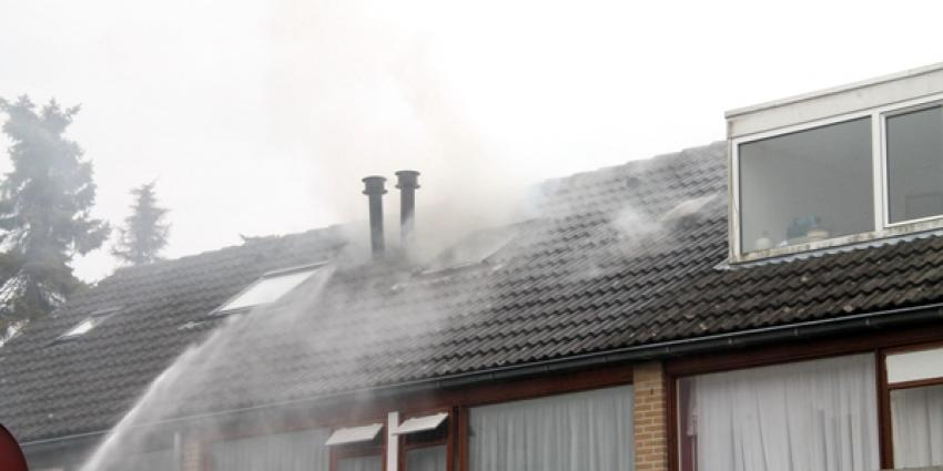 Foto van brand in woning in Delfzijl