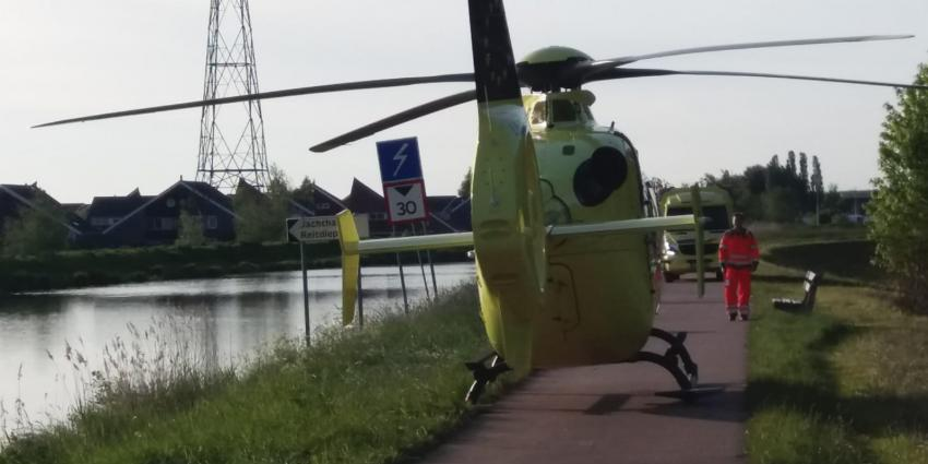 Traumahelikopter bij Blauwborgje
