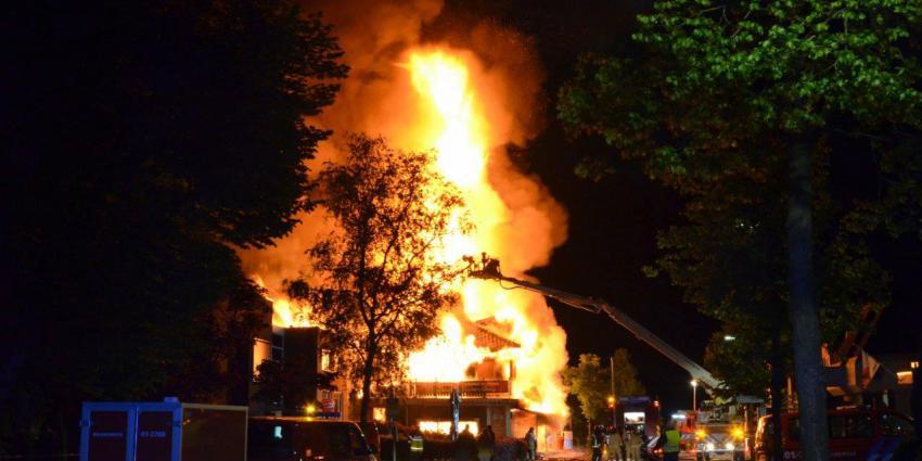 Grote brand in Vlagtwedde