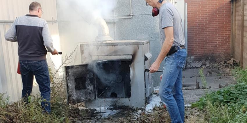 Brand bij Noord Nederlandse Stempelfabriek