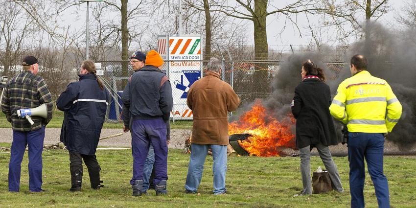 Foto van demonstratie NAM Wildervank | Stichting VIP | www.parkstadveendam.nl