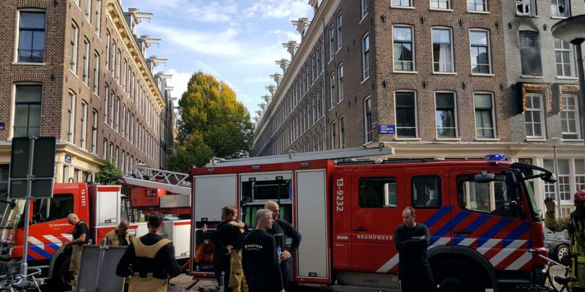 Grote woningbrand in Amsterdam