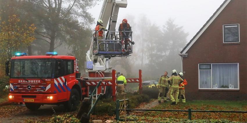 Schoorsteenbrand in Nieuwe Diep