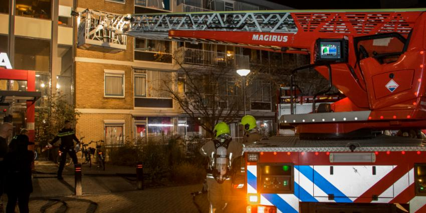 Grote brand in wooncomplex Rotterdam