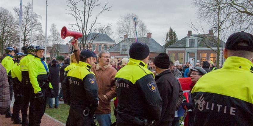 Foto van demonstratie Loppersum | Rieks Oijnhausen | rieksoijnhausen.nl/