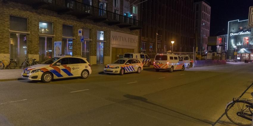Veel politie bij Vindicat