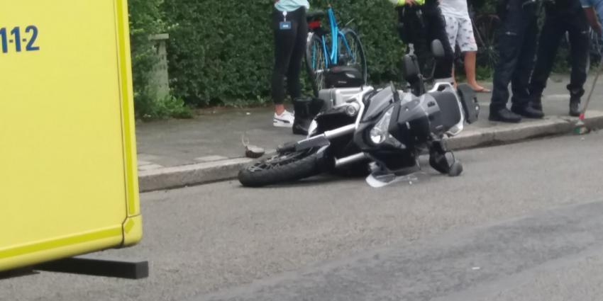 Beschadigde motor op de grond