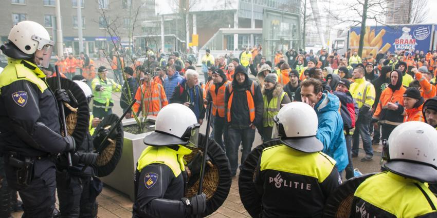 ME grijpt in bij protest havenarbeiders