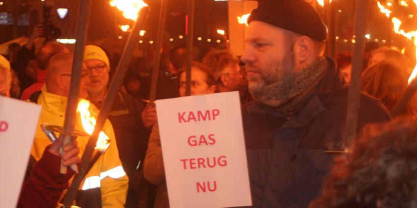 Fakkeltocht in Groningen tegen gasbesluit