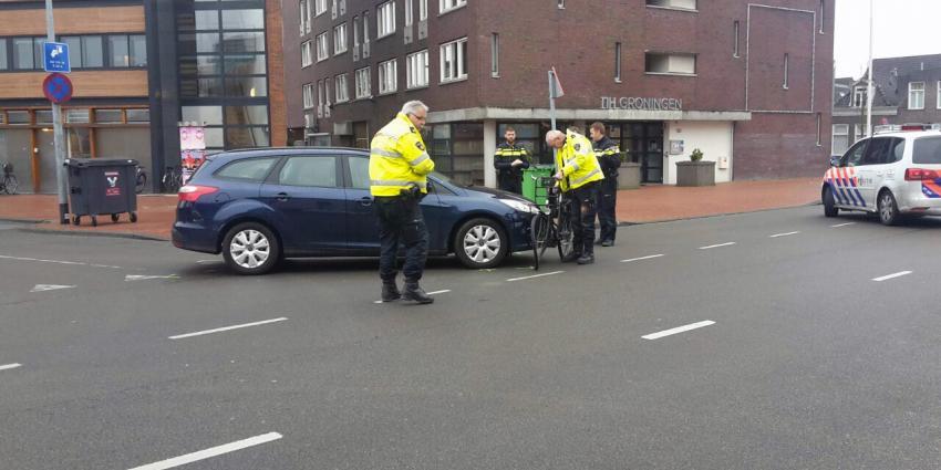 Fietsster gewond bij aanrijding in Groningen
