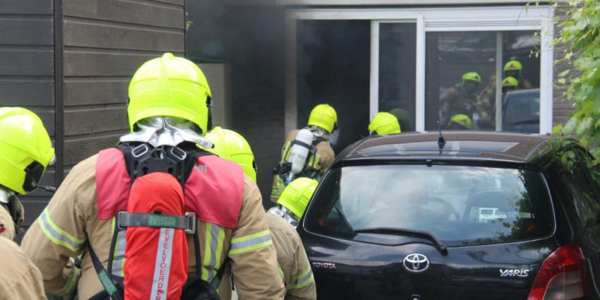 Foto van woningbrand in Schiedam
