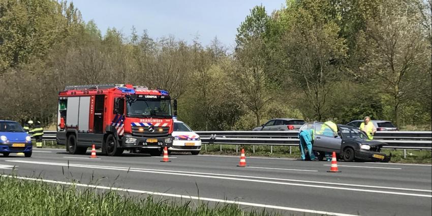 Gewonde bij ongeval op A2 ter hoogte van Liempde