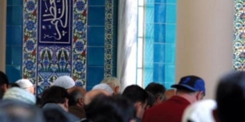 Foto van moslims in Moskee | Archief FBF.nl