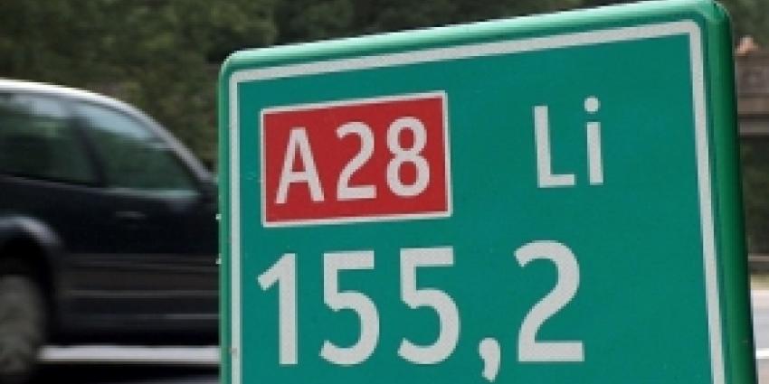 Nachtelijke verkeersstops op A28