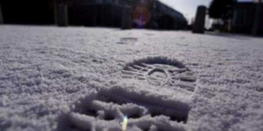 Voetsporen in sneeuw verraden schuilplaats na achtervolging