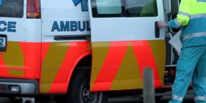 Auto rijdt tegen pui, bestuurder dood