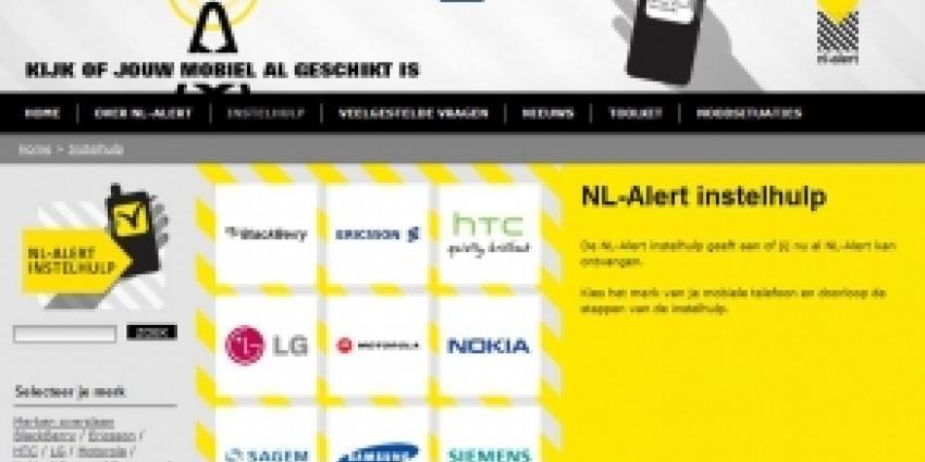Eerste NL-Alert test