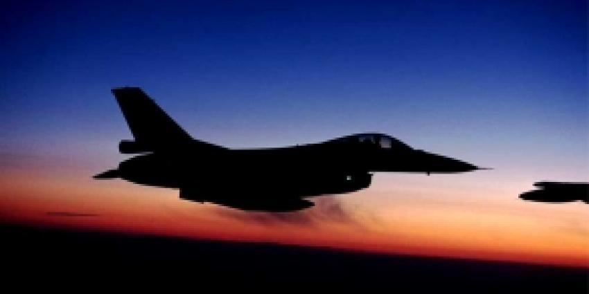 F-16 vliegt tegen kabel in de Verenigde Staten