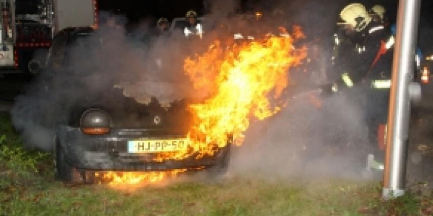 Auto brandt uit in Hoogeveen
