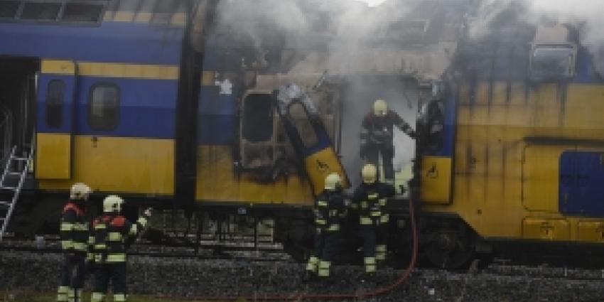 Opgepakt drietal treinbrand niet meer verdacht en vrijgelaten