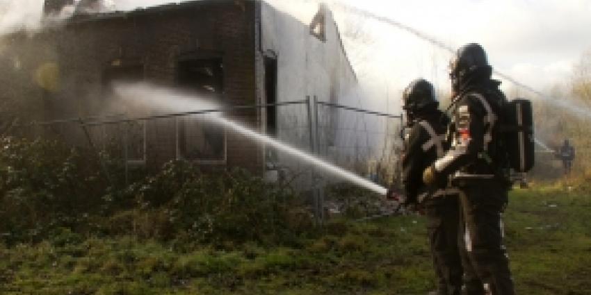 Uitslaande brand in slooppand